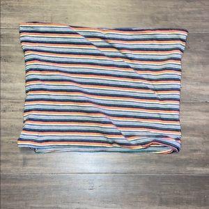 brandy melville rainbow striped tube top